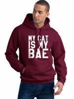 My Cat Is My Bae Unisex Pullover Hoodie - Meh. Geek