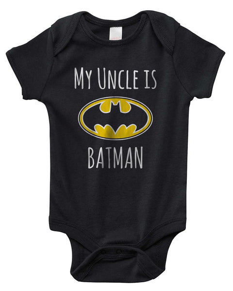 My Cousin is Batman Rabbit Skins Infant Baby Rib Lap Shoulder Creeper Onesies - Meh. Geek - 1