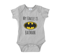My Cousin is Batman Rabbit Skins Infant Baby Rib Lap Shoulder Creeper Onesies - Meh. Geek - 5