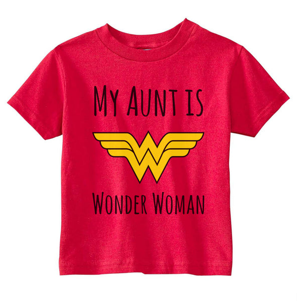 My Aunt Is Wonder Woman Toddler T-shirt tee