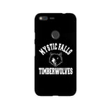 Mystic Falls Timberwolves Black Tvd LG and Google Pixel Snap or Tough Phone Case