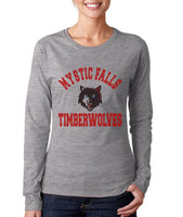 Mystic Falls Timberwolves Color Long sleeve T-shirt for Women