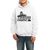 Nacho Valentine Black ink Kid / Youth Hoodie