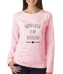 Nash Grier Is My Boyfriend LOVE Long sleeve T-shirt for Women - Meh. Geek - 1