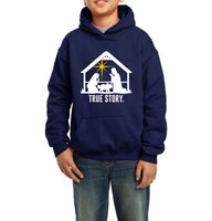 Christmas Nativity True Story Kid / Youth Hoodie