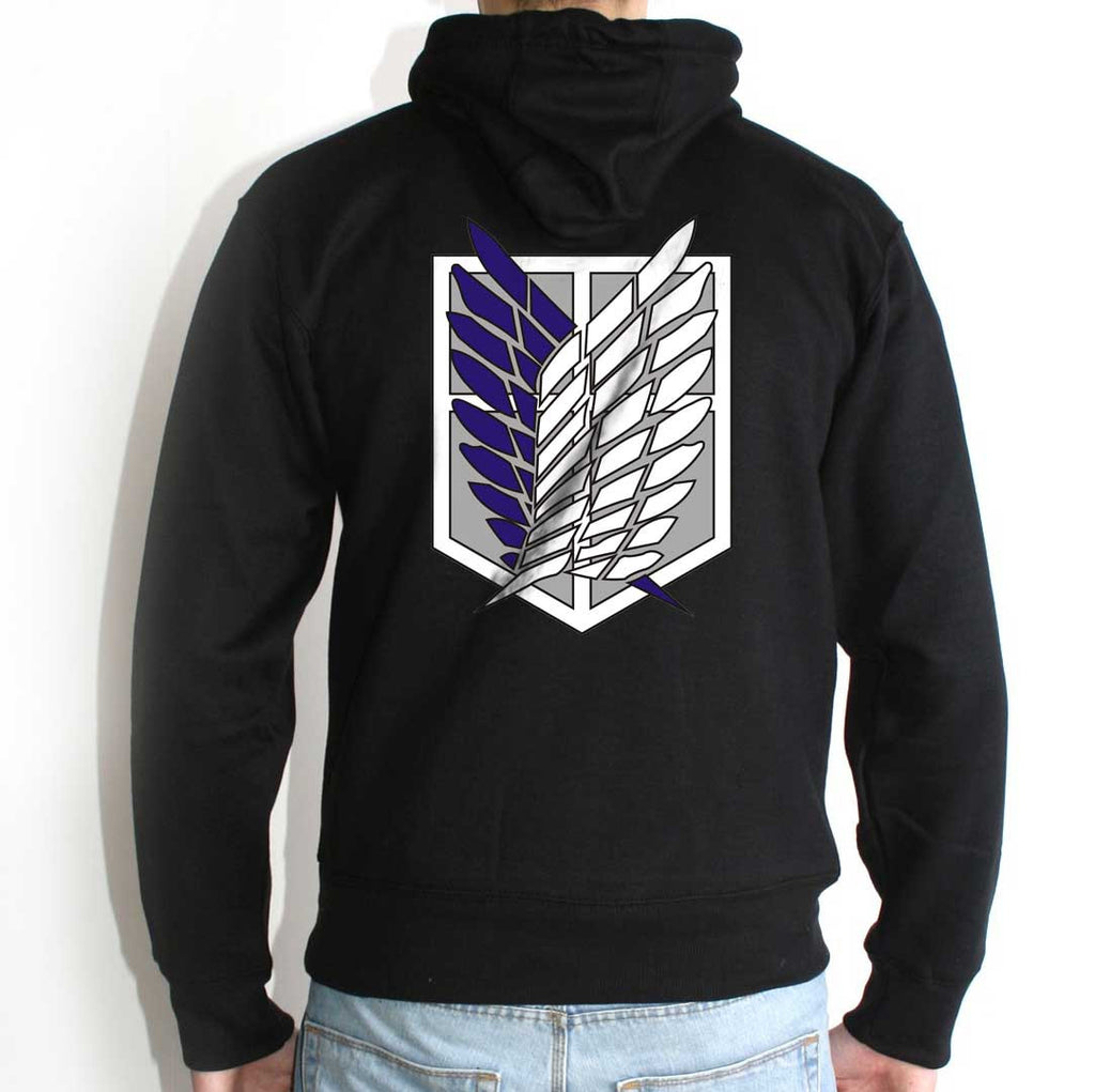 Attack on Titan Blue Ink On Back Singeki no Kyojin Unisex Pullover Hoodie - Meh. Geek - 1