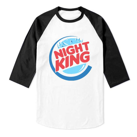 Night King Game of Thrones Unisex 3/4 Raglan Tee