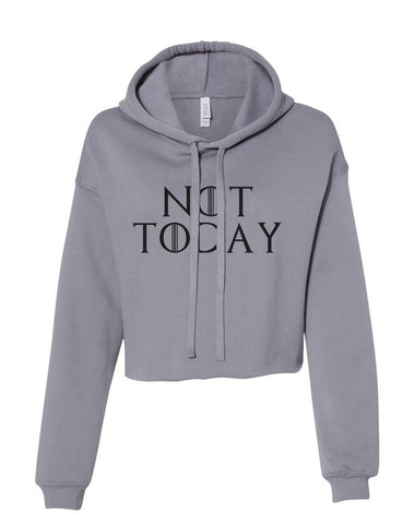 Not Today Cropped Hoodie