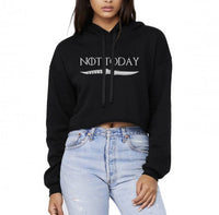 Not Today Dagger Cropped Hoodie