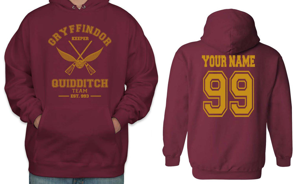 Customize - OLD Gryffindor KEEPER Quidditch Team Unisex Pullover Hoodie