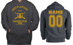 Customize - OLD Hufflepuff CAPTAIN Quidditch Team Unisex Pullover Hoodie Dark Heather