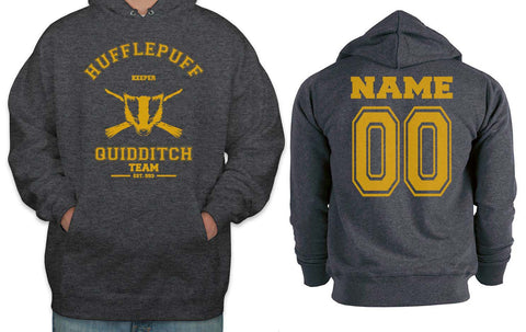Customize - OLD Hufflepuff KEEPER Quidditch Team Unisex Pullover Hoodie Dark Heather