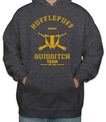 Customize - OLD Hufflepuff SEEKER Quidditch Team Unisex Pullover Hoodie Dark Heather