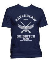 Customize - OLD Ravenclaw CAPTAIN Quidditch Team White ink Men T-shirt tee Navy