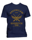 Customize - OLD Ravenclaw CHASER Quidditch Team Yellow ink Men T-shirt tee Navy