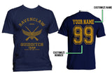 Customize - OLD Ravenclaw KEEPER Quidditch Team Yellow ink Men T-shirt tee Navy