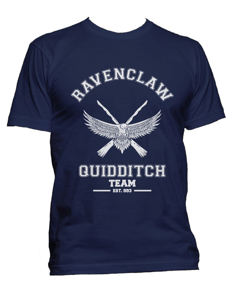 Ravenclaw PLAIN (No Position) White Quidditch Team Men T-shirt PA old