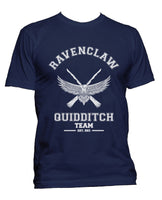 Customize - OLD Ravenclaw PLAIN (No Position) Quidditch Team White ink Men T-shirt tee Navy