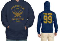 Customize - OLD Ravenclaw KEEPER Quidditch Team Yellow Unisex Adult Pullover Hoodie Navy