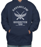 Customize - OLD Ravenclaw PLAIN (No Position) Quidditch Team White Unisex Adult Pullover Hoodie Navy