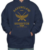 Customize - OLD Ravenclaw SEEKER Quidditch Team Yellow Unisex Adult Pullover Hoodie Navy
