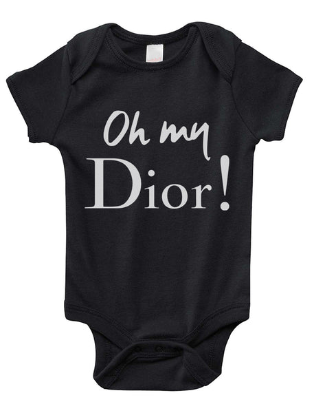 Oh My Dior Infant Baby Rib Lap Shoulder Creeper Onesies PA