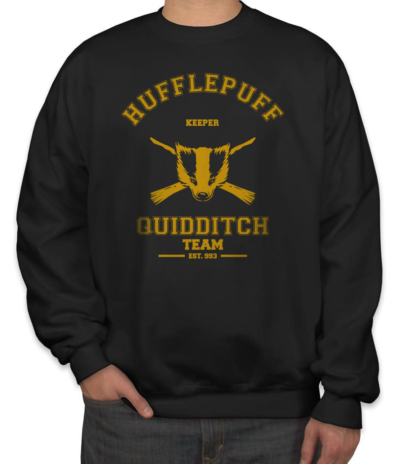 Hufflepuff KEEPER Quidditch Team Unisex Crewneck Sweatshirt PA old Adult