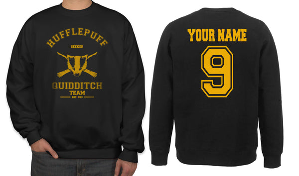 Customize - OLD Hufflepuff SEEKER Quidditch Team Unisex Crewneck Sweatshirt Adult