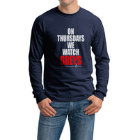 On Thursdays We Watch Greys Anatomy Long Sleeve T-shirt for Men