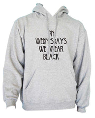 On Wednesdays We Wear Black Unisex Pullover Hoodie
