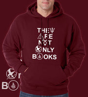 They Are Not Only Books Unisex Pullover Hoodie - Meh. Geek