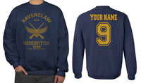 Original Customize - OLD Ravenclaw BEATER Quidditch Team Yellow Unisex Crewneck Sweatshirt Adult