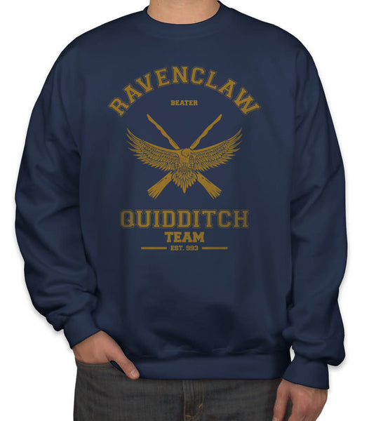 Ravenclaw BEATER Yellow Quidditch Team Unisex Crewneck Sweatshirt PA old Adult