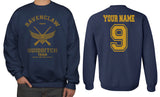 Customize - OLD Ravenclaw SEEKER Quidditch Team Yellow Unisex Crewneck Sweatshirt Adult