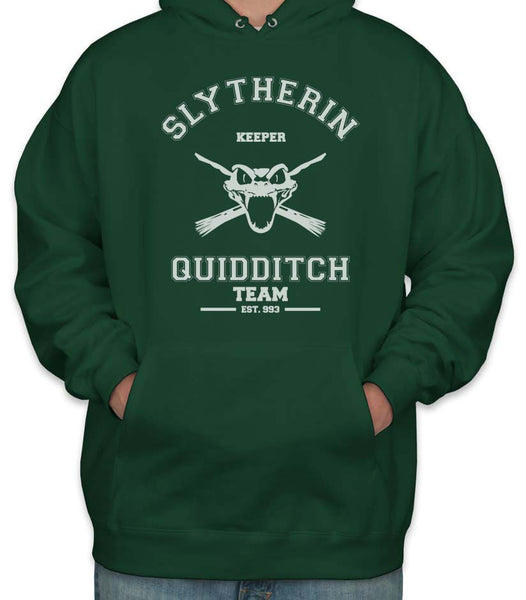 Slytherin KEEPER Quidditch Team Unisex Pullover Hoodie PA old