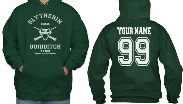 Customize - Old Slytherin SEEKER Quidditch Team Unisex Pullover Hoodie