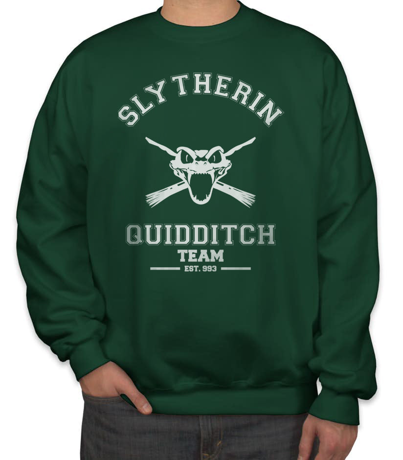 Slytherin PLAIN (No Position) Quidditch Team Unisex Crewneck Sweatshirt PA old Adult