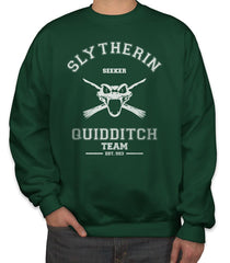 Customize - OLD Slytherin SEEKER Quidditch Team Unisex Crewneck Sweatshirt (Adult)