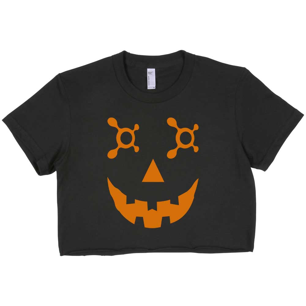 OTF Jack O Lantern Orange Crop Top, women crop Tee