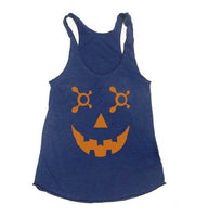 OTF Jack O Lantern Orange Triblend Racerback Women Tank Top