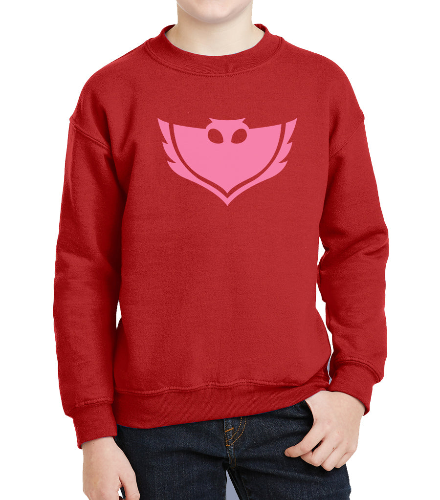 PJ Mask Owlette Pink Ink Kid / Youth Crewneck Sweatshirt