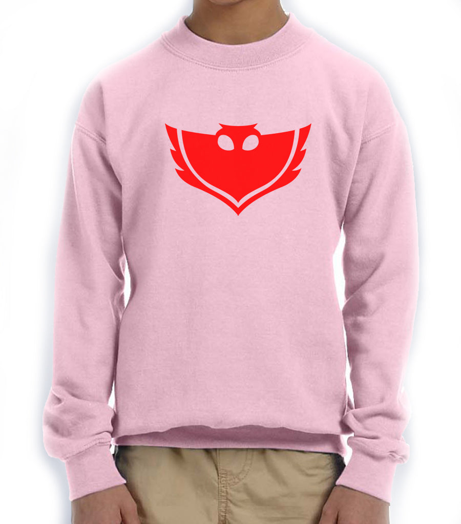 PJ Mask Owlette Red Ink Kid / Youth Crewneck Sweatshirt