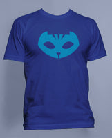 Customized Name Back Pj Mask Catboy Blue Men T-shirt