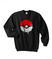 Pokeball Games Unisex Crewneck Sweatshirt Adult