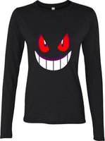 Pokemon Gengar Games Long sleeve T-shirt for Women - Meh. Geek