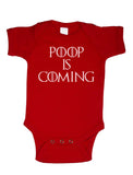 Poop is Coming Infant Baby Rib Lap Shoulder Creeper Onesies