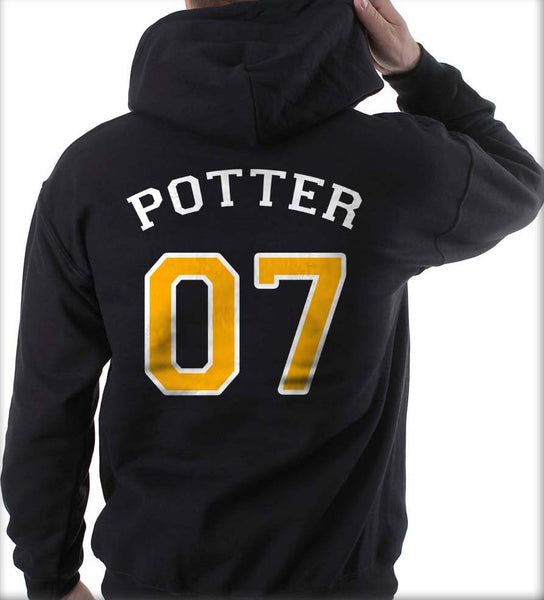 Potter 07 on Back Harry Potter Unisex Pullover Hoodie