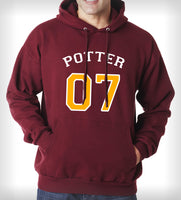 Potter 07 on Front Harry Potter Unisex Pullover Hoodie