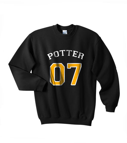 Potter 07 on Front Harry Potter Unisex Crewneck Sweatshirt - Meh. Geek