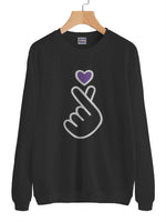 Purple Love Sarang BTS Unisex Crewneck Sweatshirt Adult